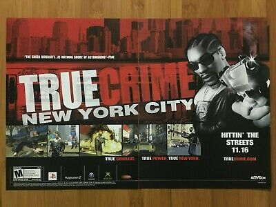 True Crime: New York City PS2 Xbox 2005 Vintage Print Ad/Poster Official Rare