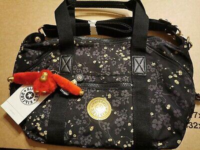 Kipling Art Mini Grey Gold Fl Handbag