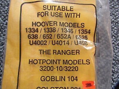4 Hoover Disposable Vacuum Bags