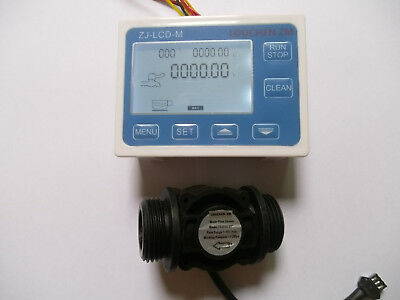 New G1 Flow Water Sensor Meterdigital Lcd Display Control
