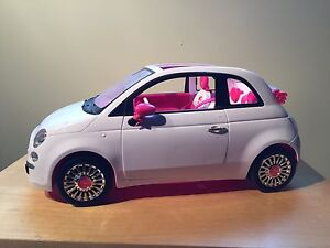 Barbie white car
