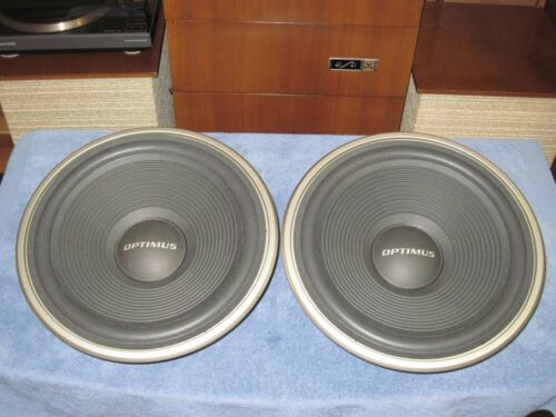 """AWF-00-004 15"""" WOOFERS> Realistic OPTIMUS PRO 4000, MACH 3 2 1 Speakers REFOAMED"""