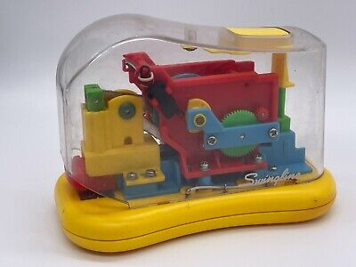 Swingline Clear Transparent Automatic Stapler Battery Operated Yellow Tested