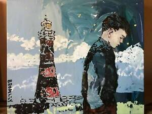 Original David Bromley painting Boy in the lighthouse