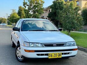 1997 Toyota Corolla CSi White 4 Speed Automatic Sedan Low Kms