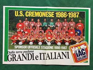 FM1-FOTO-SQUADRA-CREMONESE-1986-1987-IAG-SALUMI-Poster-27x42-Guerin-Sportivo