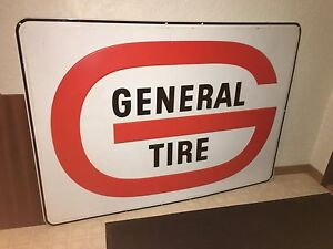 Large Metal General Tire Sign