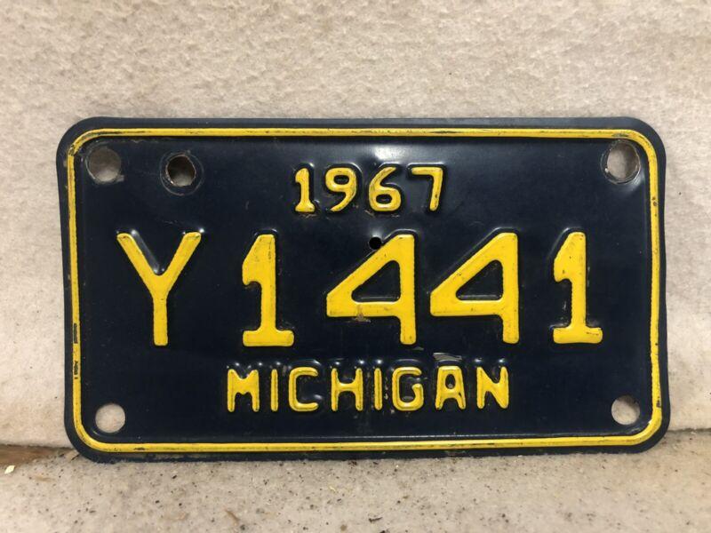 Vintage 1967 Michigan Motorcycle License Plate