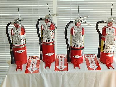 Fire Extinguisher 5lb Abc Dry Chemical - Lot Of 4 Scratchdent