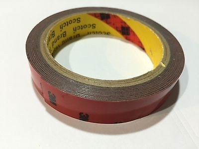3m Double Sided Adhesive Tape Multi Purpose 20mm 3 Meter Acrylic Foam Red 5108