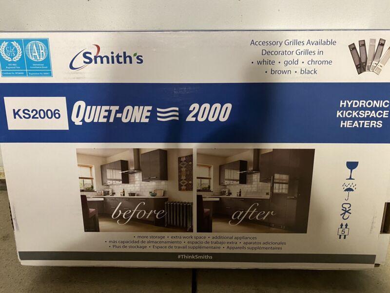Smiths Quiet 2000 Series 7,800 BTU Hydronic Kickspace Heater in Stainless Steel