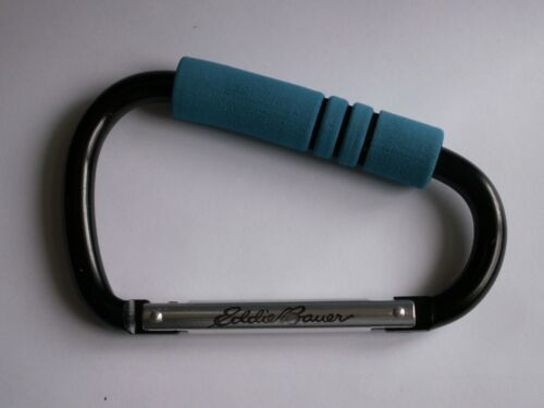 Eddie Bauer Hook N Go Stroller Hook Teal Blue Like a Carabiner