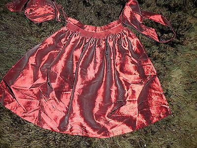 Hochwertige Trachtenschürze Girlies ab Gr.104 dunkelroter Satin festlich elegant