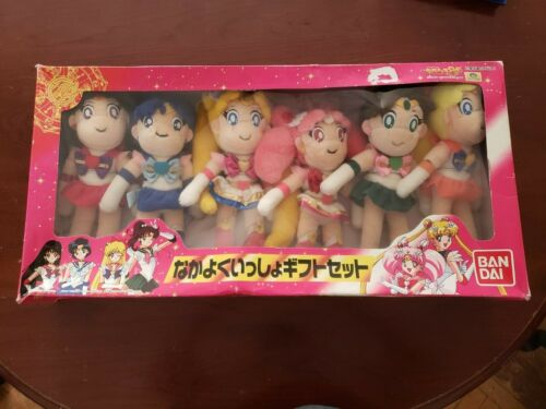 BAN DAI SAILOR MOON PLUSH DOLLS 6 DOLLS SET
