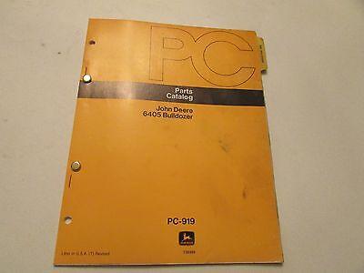 John Deere Pc-919 Bulldozer 6405 Parts Catalog Manual