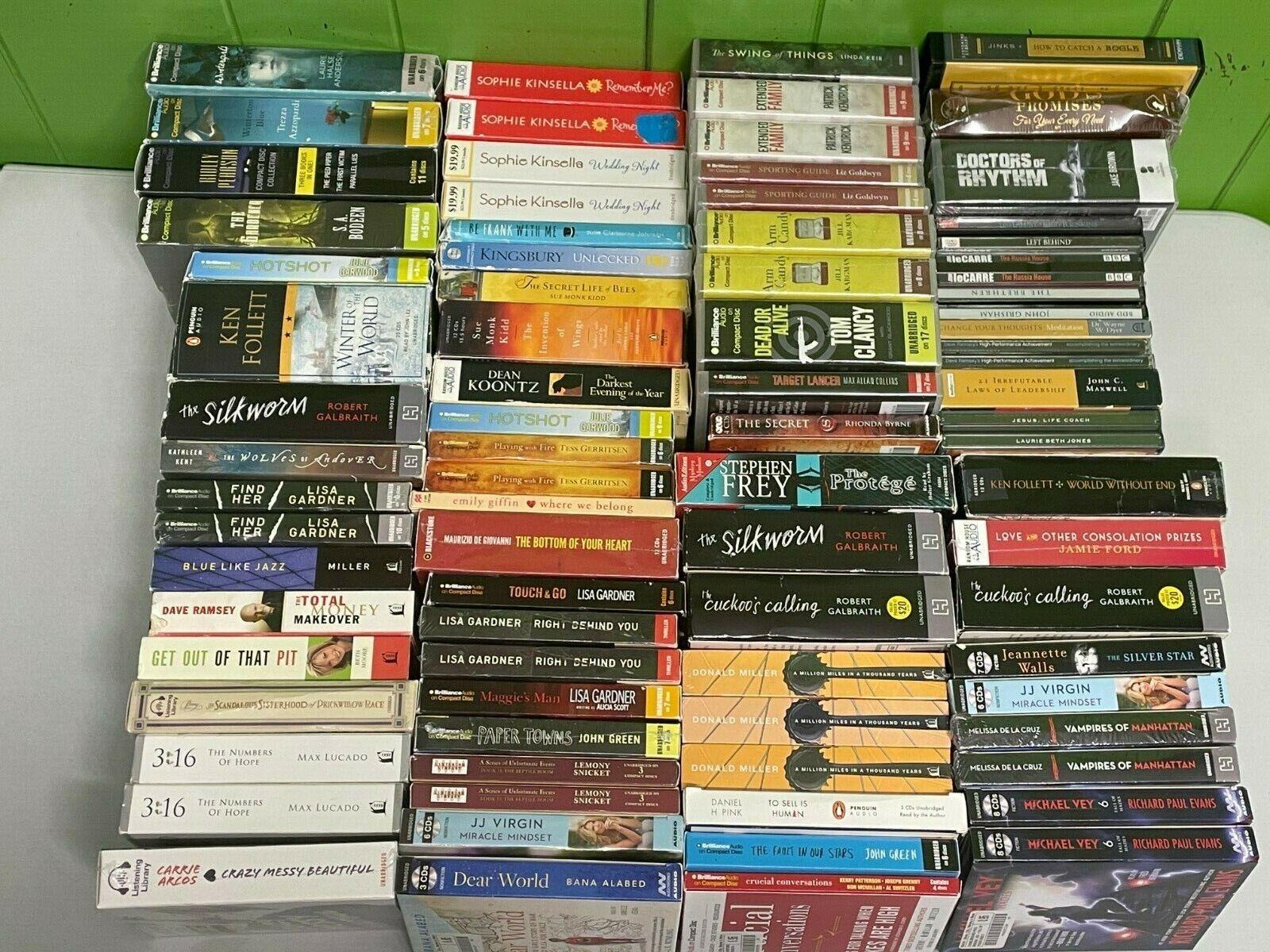Audiobook LOT Books On CD Wholesale Audio Book Bulk NAAB4 - $10.50