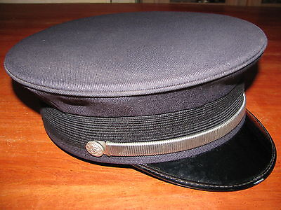 VINTAGE  Fire Department  Captains Dress Visor Hat SIZE L MADE IN THE USA large