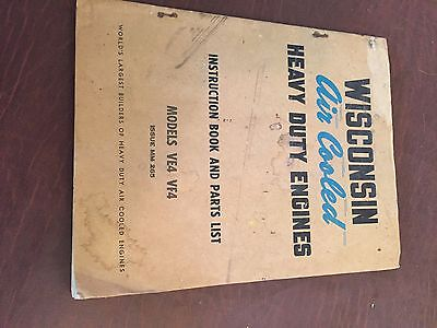 Wisconsin Engine Rebuild Instructions Parts Manual Model Ve4 Vf4