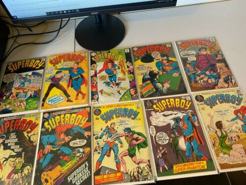 (10) Silver Age Superboy DC Comics VG to F old comics LOT