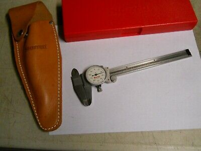 Starrett 120-6 Dial Caliper. W Leather Holster Used