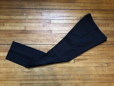 QASIMI HOMME BLACK MERINO WOOL DRESS CASUAL PANTS SIZE 30 MADE IN THE UK RARE