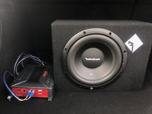 """10"""" subwoofer with amp,wires"""