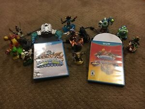 WOW!  2 Wii U Skylander games + characters for one low price!!