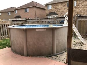 """12"""" round above ground pool + all accessories for sale"""
