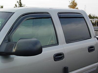 Chevrolet Silverado HD 2500/3500 Crew Cab 2015 - 2018 In-Channel Vent Visor 4 (Hd Ventshade Vent Visor)