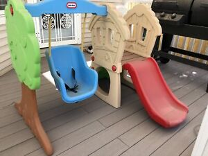 Little Tikes toddler swing and slide set