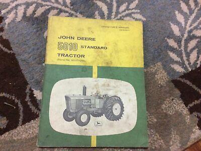 John Deere Model 5010 Tractor Omr36977 Operators Manual Serial 8000-up Jd