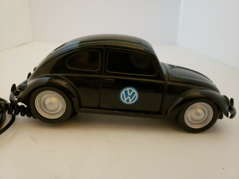 Vintage 1988 Volkswagen VW Beetle Push Button Telephone Phone RARE Black Color