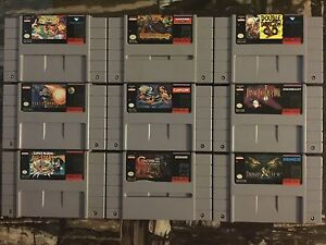 Selling my amazing SNES games here folks!!!