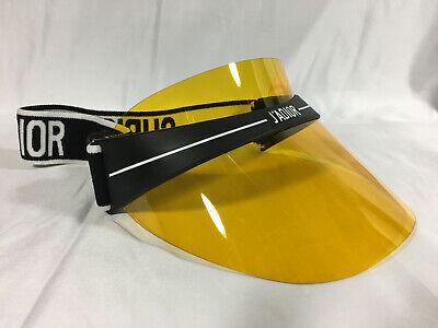 Authentic New Christian Dior DIOR CLUB 1 Visor Yellow Sunglasses (Dior Shield Sunglasses)