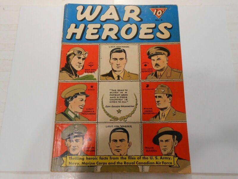 War Heroes #3 ( Jan-Mar 1943, Dell) GD/VG 3.0 Rare Golden Age War Time Comic