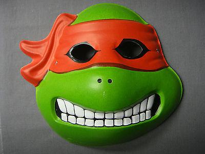TMNT TEENAGE MUTANT NINJA TURTLES RAPHAEL THEME CHILD SIZE HALLOWEEN MASK PVC ](Halloween Ninja Turtles)