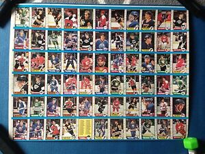 1989/90 O-Pee-Chee OPC Hockey Uncut Sheets Complete Set