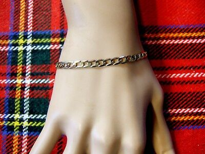 9 ct gold second hand flat curb bracelet