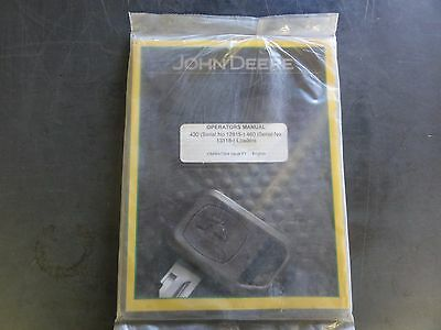 John Deere 430 Sn 12815- 460 Sn 13118- Loaders Operators Manual