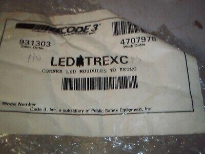 Code 3  Excalibur Light Bar Corner Module Pn Ledrtrexc Passenger Side