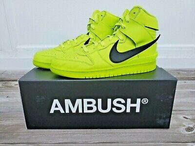 Nike Dunk High Ambush Flash Lime Mens US Size 12 Sneakers New in Box
