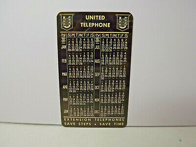 Calendar With Pockets (1962 United Telephone Pocket Calendar with Ruler on Back)
