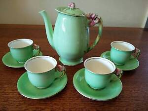Royal Winton Grimwades Tiger Lily coffee pot, four cups saucers Eaglemont Banyule Area Preview