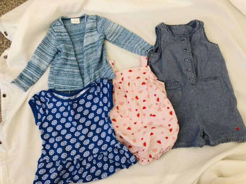Baby Girl Toddler Clothing Lot Gymboree Cuddle Duds Gap Look Cute