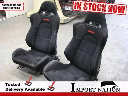 Mitsubishi Colt Recaro Cloth Seats Pair Front - Set 1 - EVO 8 MR