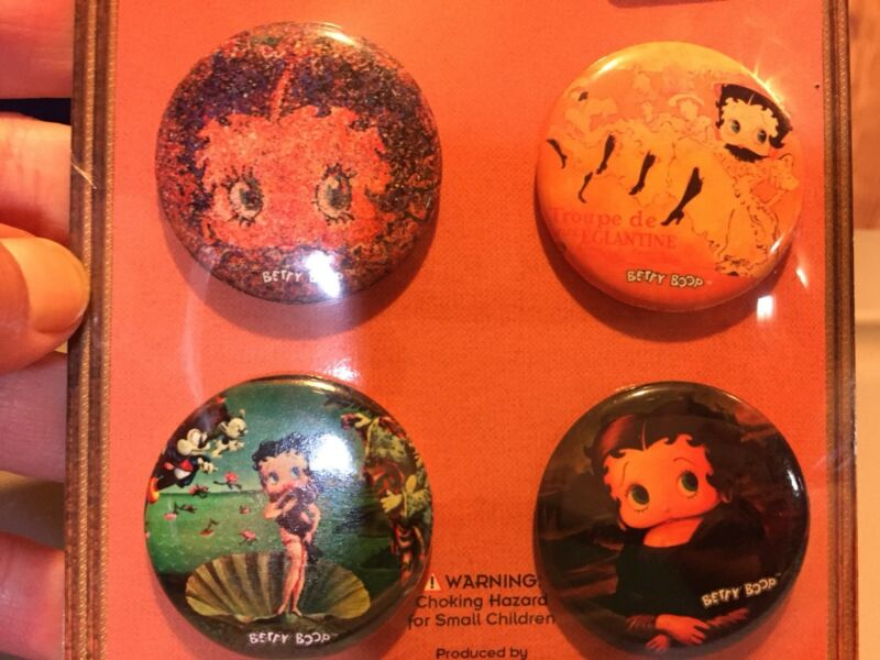 Betty Boop Button Pins 2002