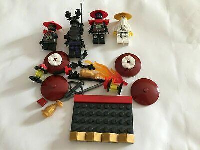 LEGO Ninjago Sensei Wu & SAMURAI Lot 4 Figures + Extra Pieces NOT COMPLETE SET