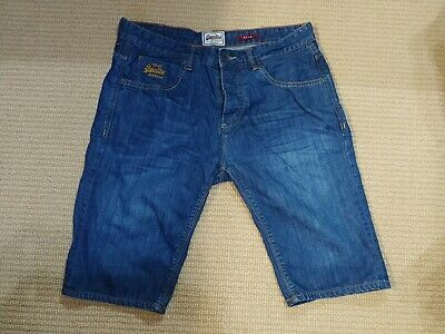 Superdry Denim Officer Slim men's blue Jeans shorts 34