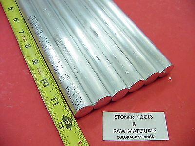 6 Pieces 34 Aluminum 6061 Round Rod 12 Long Solid T6511 New Lathe Bar Stock