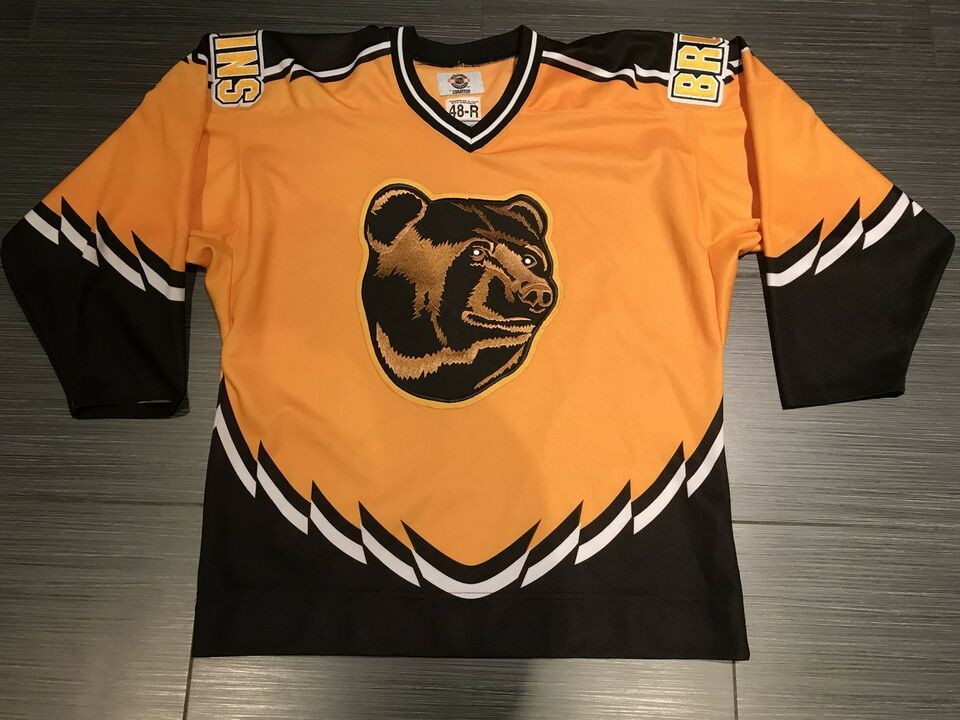 brand new cf59d fdfae 1st Year Authentic Starter Boston Bruins Third Poo Bear Jersey